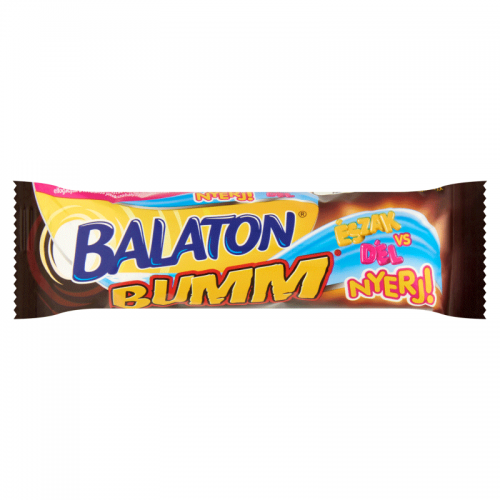 Balaton Bumm Wafer Bar Coated in Cocoa Milk Paste, Filled with Caramel and Wheat Flake 42 g