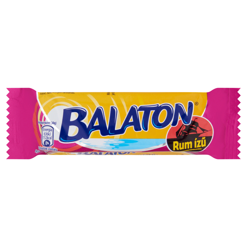 Balaton Wafer Filled with Rum Flavoured Cream Coated in Cocoa Coating 30 g