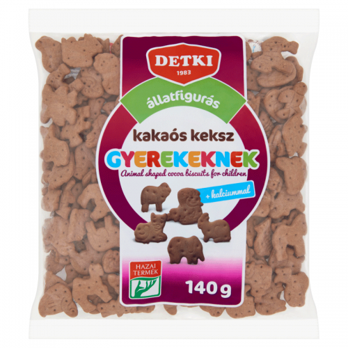 Detki Animal Shaped Cocoa Biscuits for Children with Calcium 140 g