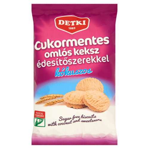 Detki Sugar-free Soft Biscuits with Sweeteners 180 g coconut