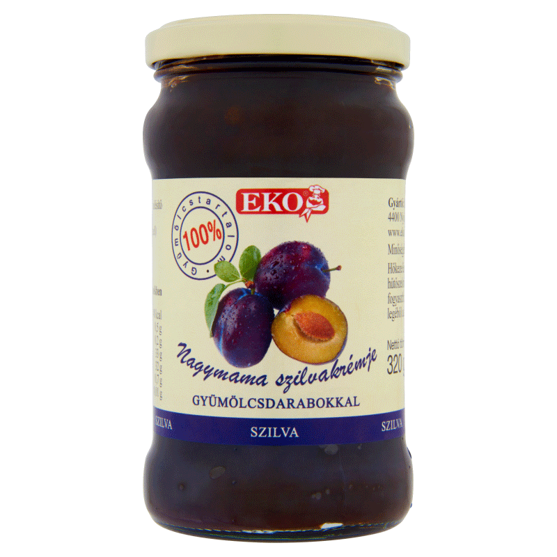 Eko Grandma's Cream 320 g plum with fruit pieces