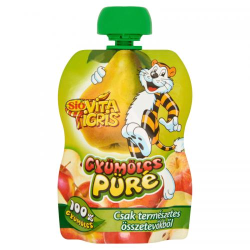 Sió Vitatigris Apple-based Fruit Puree 100% 90 g Pear