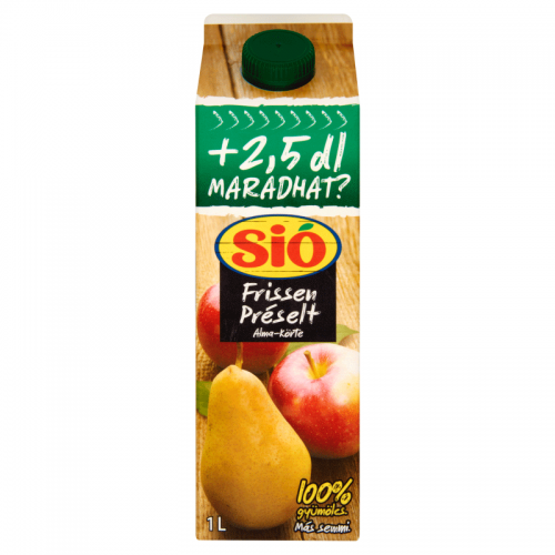 Sió Freshly Pressed Fruit Juice 1 l Apple-Pear 100%