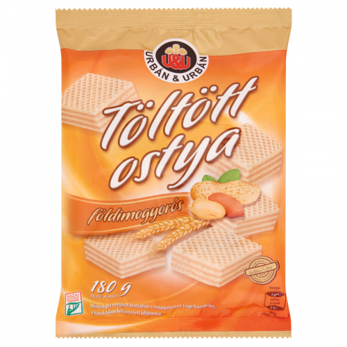 Urbán&Urbán Filled Wafer 180 g peanut flavored cream