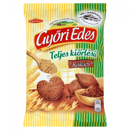Győri Édes Whole Grain Crumbly Biscuits 180 g cocoa