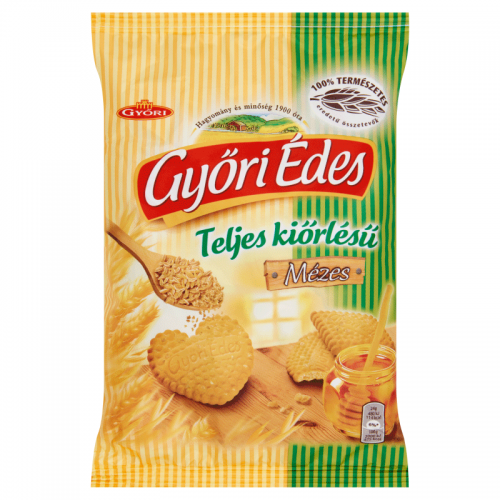Győri Édes Whole Grain Crumbly Biscuits 180 g honey