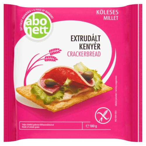 Abonett Gluten-Free Extruded Crackerbread 100 g millet