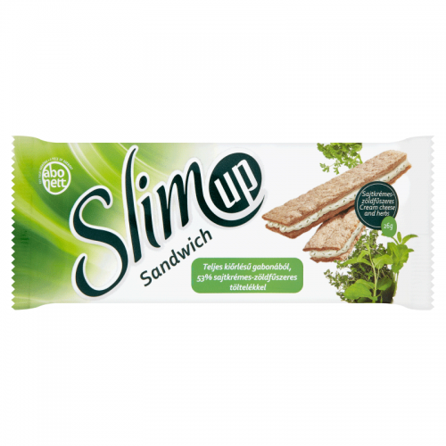Abonett SlimUp Sandwich Wholegrain Extruded Slice 26 g cream cheese and herbs filling