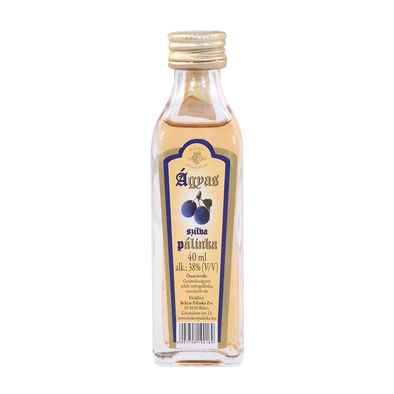 Békési Plum Palinka on Fruit Bed 0.04 l 38%