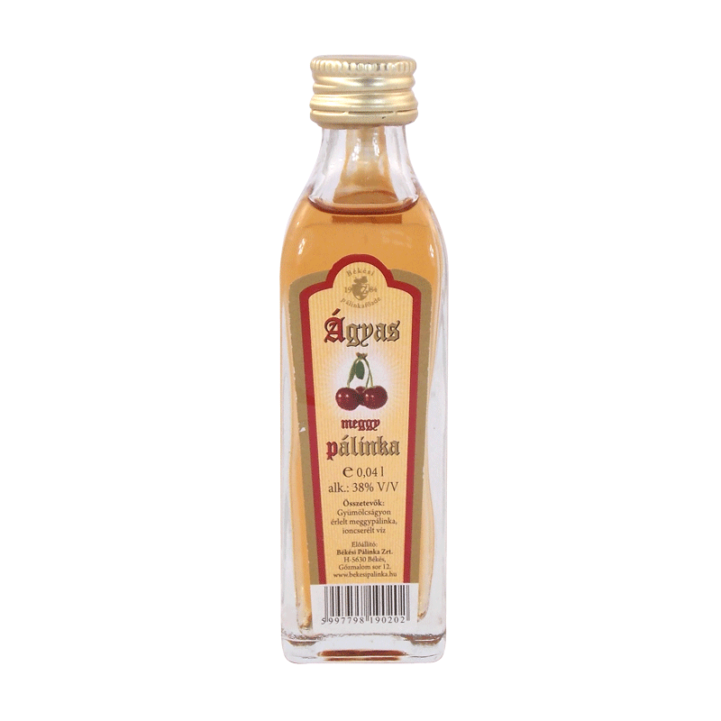 Békési Sour Cherry Palinka on Fruit Bed 0.04 l 38%