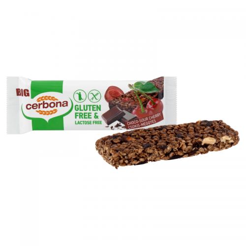 Cerbona Big Gluten-free, Lactose-free Muesli Bar 35 g choco-sour cherry