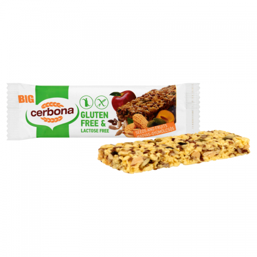 Cerbona Big Gluten-free, Lactose-free Muesli Bar 35 g seeds and fruits