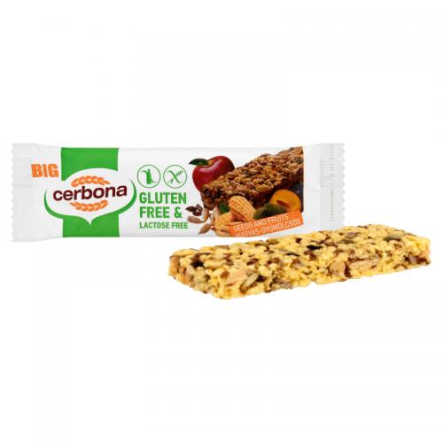 Cerbona Big Gluten-free, Lactose-free Muesli Bar 35 g seeds and fruits