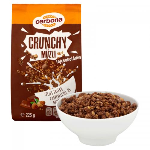 Cerbona Crunchy Muesli 225 g milk chocolate