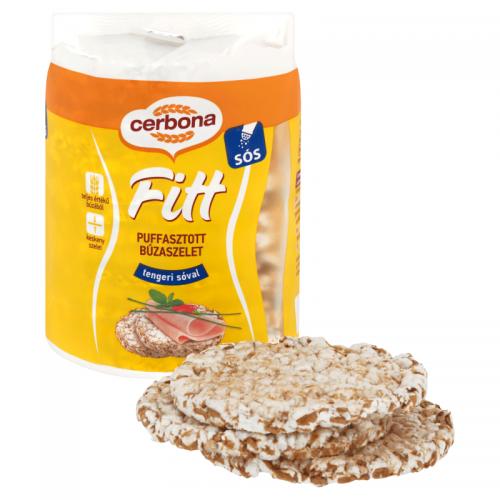 Cerbona Fitt Puffed Wheat 90 g sea salt