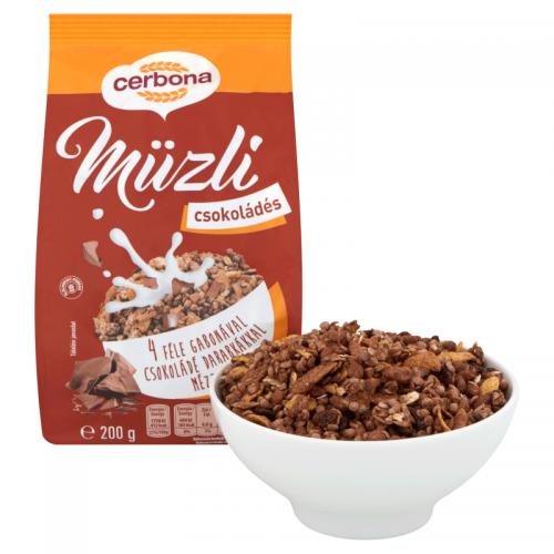 Cerbona Muesli 200 g chocolate