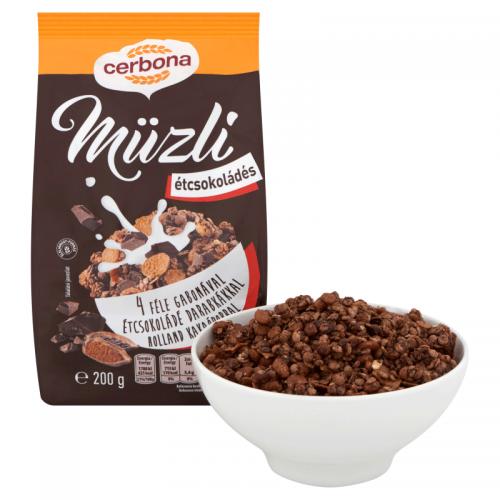 Cerbona Muesli 200 g dark chocolate