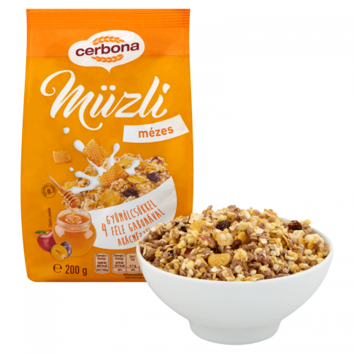Cerbona Muesli 200 g honey