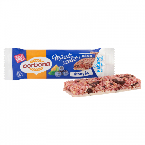 Cerbona Muesli Bar 20 g blueberry in yogurt coating