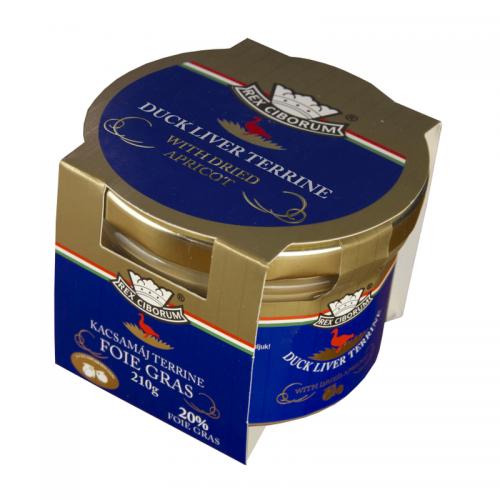 Rex Ciborum Foie Gras Duck Liver Terrine with Dried Apricot 220 g