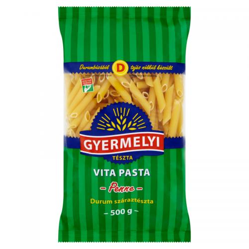 Gyermelyi Vita Pasta Durum Dried Pasta 500 g Penne