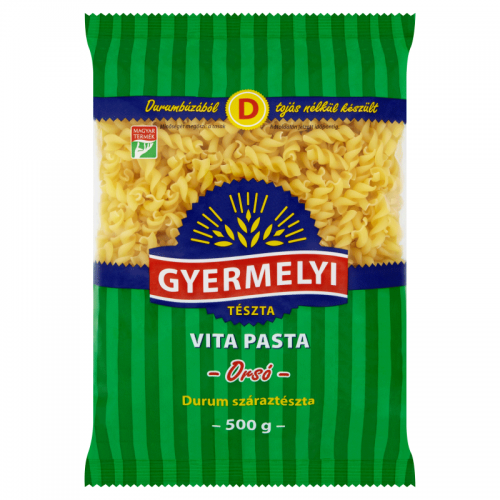Gyermelyi Vita Pasta Durum Dried Pasta 500 g Spindle