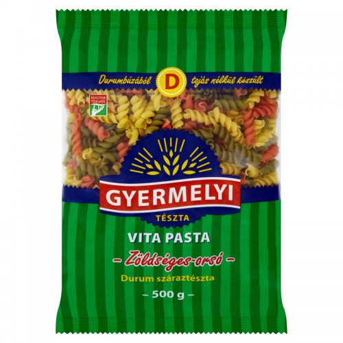 Gyermelyi Vita Pasta Durum Dried Pasta 500 g Vegetable Spindle